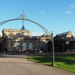 Pump Rooms through arch